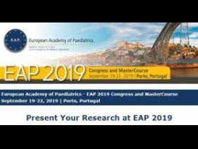 Συνέδριο Ευρωπαϊκής Ακαδημίας Παιδιατρικής 2019